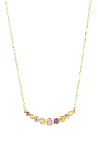 Bijuterii Femei Kate Spade New York multicolor cz curved bar necklace GOLDMULTI