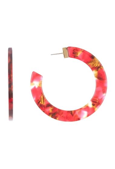 Bijuterii Femei Kate Spade New York slice of stone hoop earrings RED MULTI