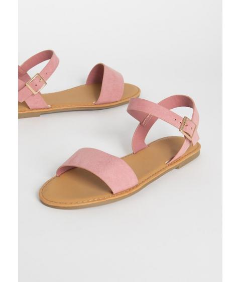 Incaltaminte Femei CheapChic Sunny Forecast Faux Suede Sandals Blush