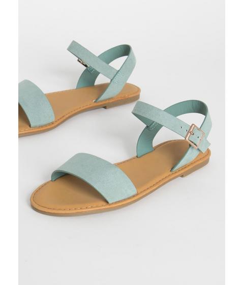Incaltaminte Femei CheapChic Sunny Forecast Faux Suede Sandals Sage
