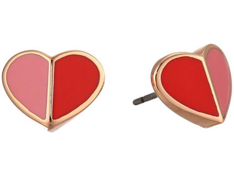 Bijuterii Femei Kate Spade New York Heritage Spade Small Heart Studs Earrings Pink Multi