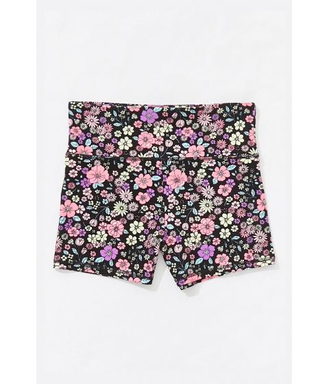 Imbracaminte Femei Forever21 Active Floral Print Shorts BLACKMULTI