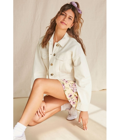 Imbracaminte Femei Forever21 Twill Relaxed Drop-Sleeve Jacket CREAM