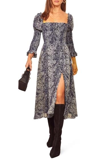 Imbracaminte Femei REFORMATION Rosamund Smocked Midi Dress SERPENT