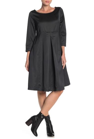 Imbracaminte Femei JARBO 34 Sleeve Pleated Silk Dress BLACK