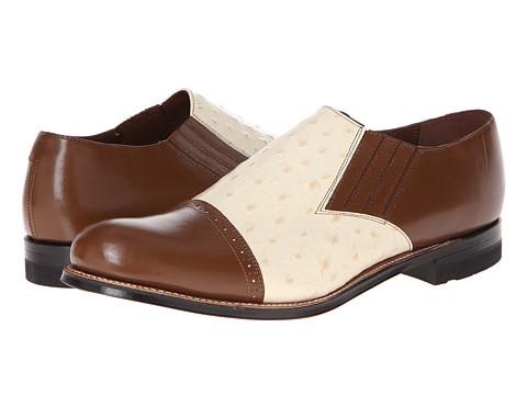 Incaltaminte Barbati Stacy Adams Madison (Cap Toe) MustardIvory KidskinOstrich Print Leather