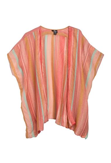 Imbracaminte Femei Angie Lurex Stripe Fringe Kimono CORAL