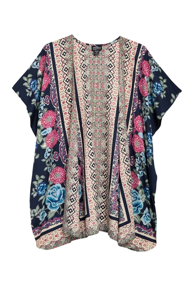 Imbracaminte Femei Angie Floral Printed Duster Kimono BLUE