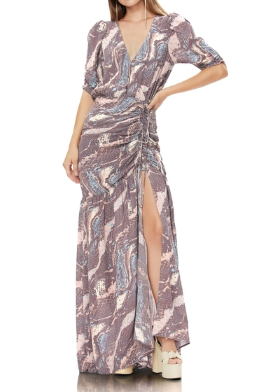 Imbracaminte Femei AFRM Nile Ruched Maxi Dress ABSTRACT SNAKE