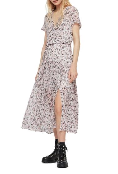 Imbracaminte Femei ALLSAINTS Alix Freefall Floral Print Midi Dress CHALK WHITE
