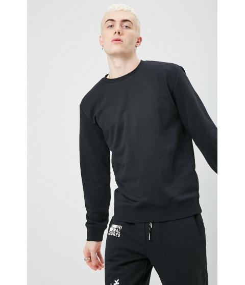 Imbracaminte Barbati Forever21 French Terry Crew Neck Sweatshirt BLACK