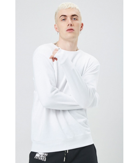 Imbracaminte Barbati Forever21 French Terry Crew Neck Sweatshirt WHITE