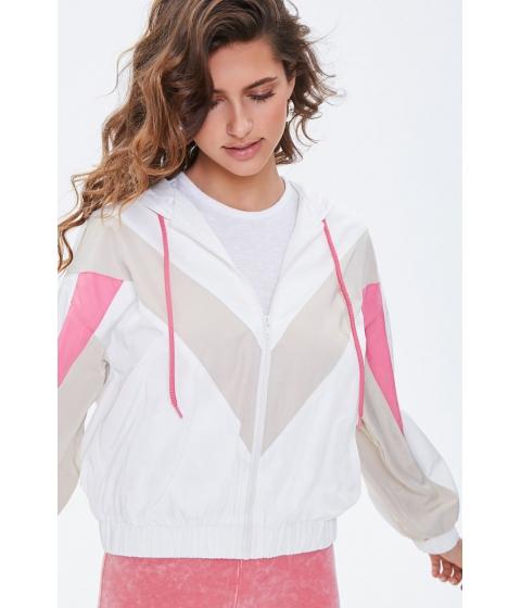Imbracaminte Femei Forever21 Hooded Colorblock Windbreaker CREAMTAUPE
