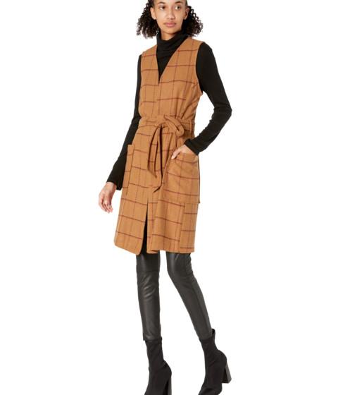 Imbracaminte Femei BCBGeneration Woven Sleeveless Waist Tie Vest Caramel
