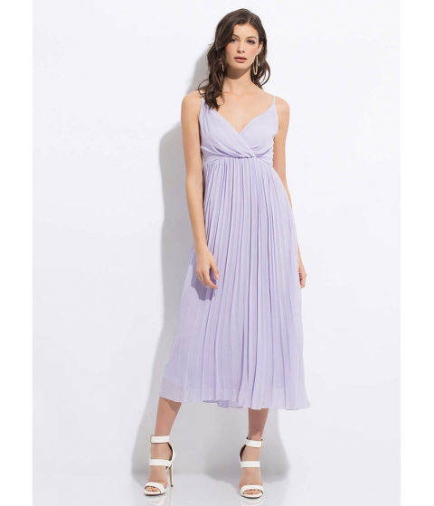 Imbracaminte Femei CheapChic Clothing Empire Flowy Pleated Maxi Dress Lavender