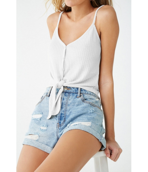 Imbracaminte Femei Forever21 Knotted Button-Front Cami WHITE