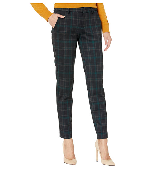 Imbracaminte Femei Liverpool Kelsey Knit Trousers in Tartan Plaid Knit BlackEvergreen