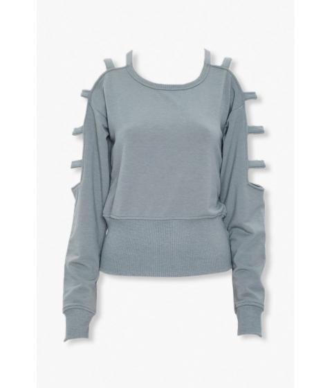 Imbracaminte Femei Forever21 Caged-Sleeve Sweatshirt SAGE
