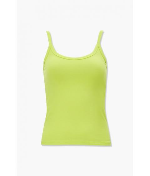 Imbracaminte Femei Forever21 Basic Cotton-Blend Cami NEON GREEN