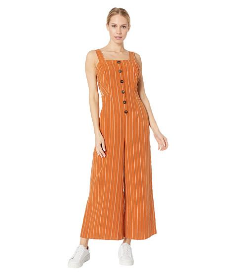 Imbracaminte Femei ASTR the Label Baseline Jumpsuit Papaya Stripe