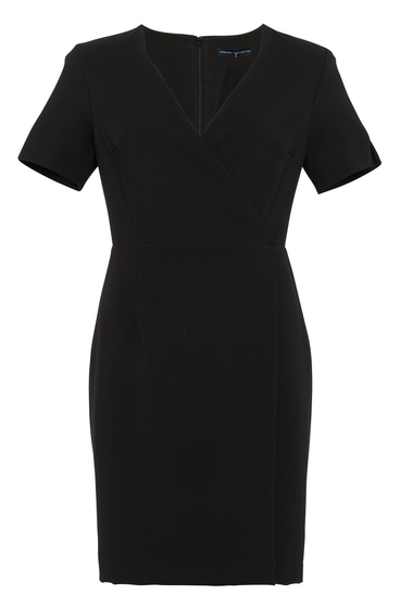 Imbracaminte Femei French Connection Whisper Wrap Short Sleeve Dress BLACK