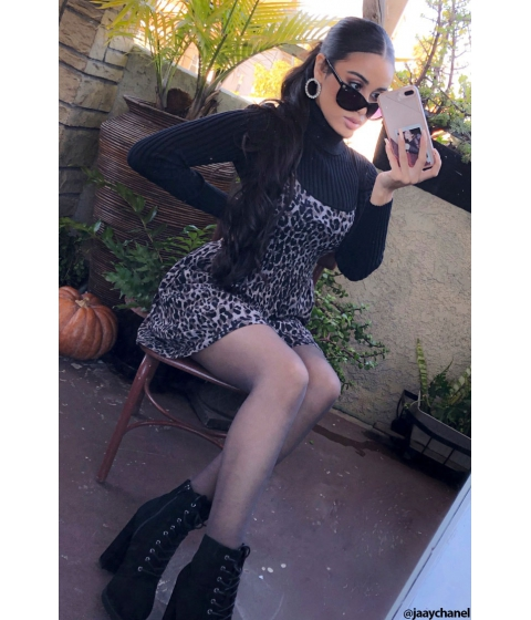 Imbracaminte Femei Forever21 Leopard Print Mini Dress TAUPEBLACK