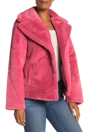 Imbracaminte Femei Avec Les Filles Plush Faux Fur Jacket PINK