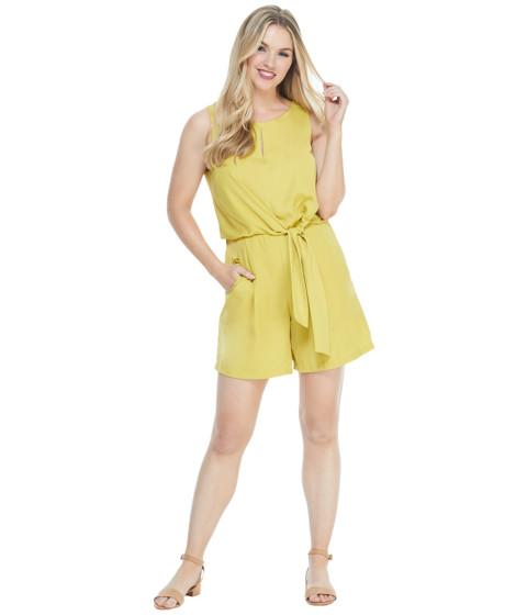 Imbracaminte Femei London Times Sleeveless Tie Bodice Romper Gold
