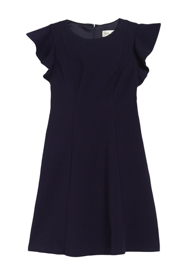 Imbracaminte Femei Eliza J Butteryfly Sleeve Scuba Fit Flare Dress NAVY