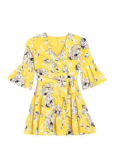 Imbracaminte Femei Eliza J Floral Print Side Tie Dress YELLOW