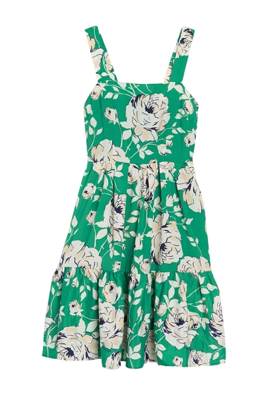Imbracaminte Femei Eliza J Sleeveless Tiered Floral Print Dress GREEN
