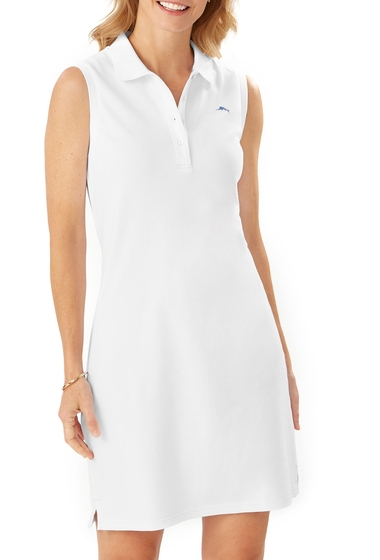 Imbracaminte Femei Tommy Bahama Paradise Sleeveless Polo Dress WHITE