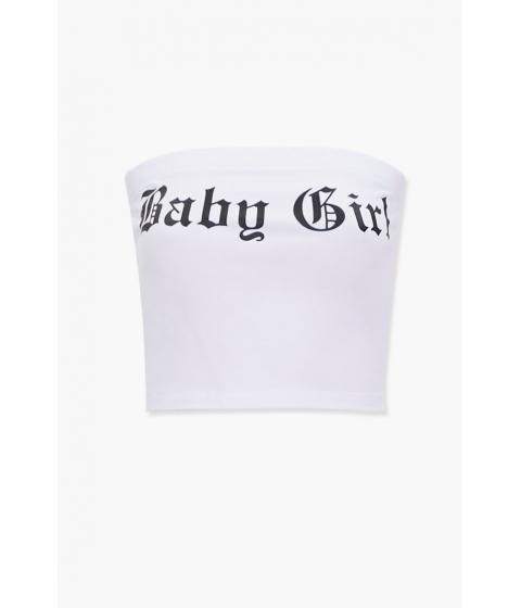 Imbracaminte Femei Forever21 Baby Girl Graphic Tube Top WHITEBLACK