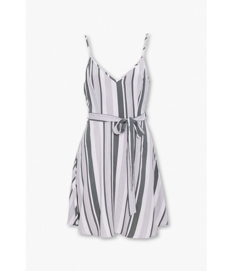 Imbracaminte Femei Forever21 Striped Tie-Waist Dress CREAMOLIVE