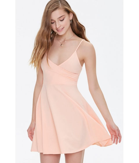 Imbracaminte Femei Forever21 Surplice Fit Flare Cami Dress PEACH