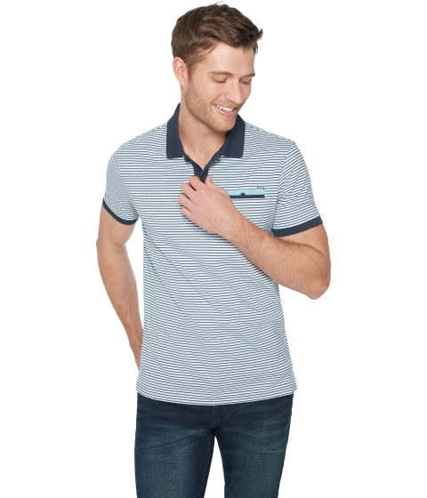 Imbracaminte Barbati GUESS Rudy Striped Polo nocturnal navy