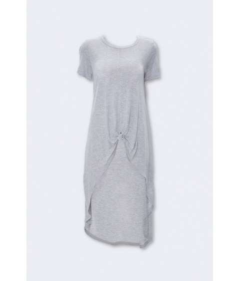 Imbracaminte Femei Forever21 Knotted High-Low Top HEATHER GREY