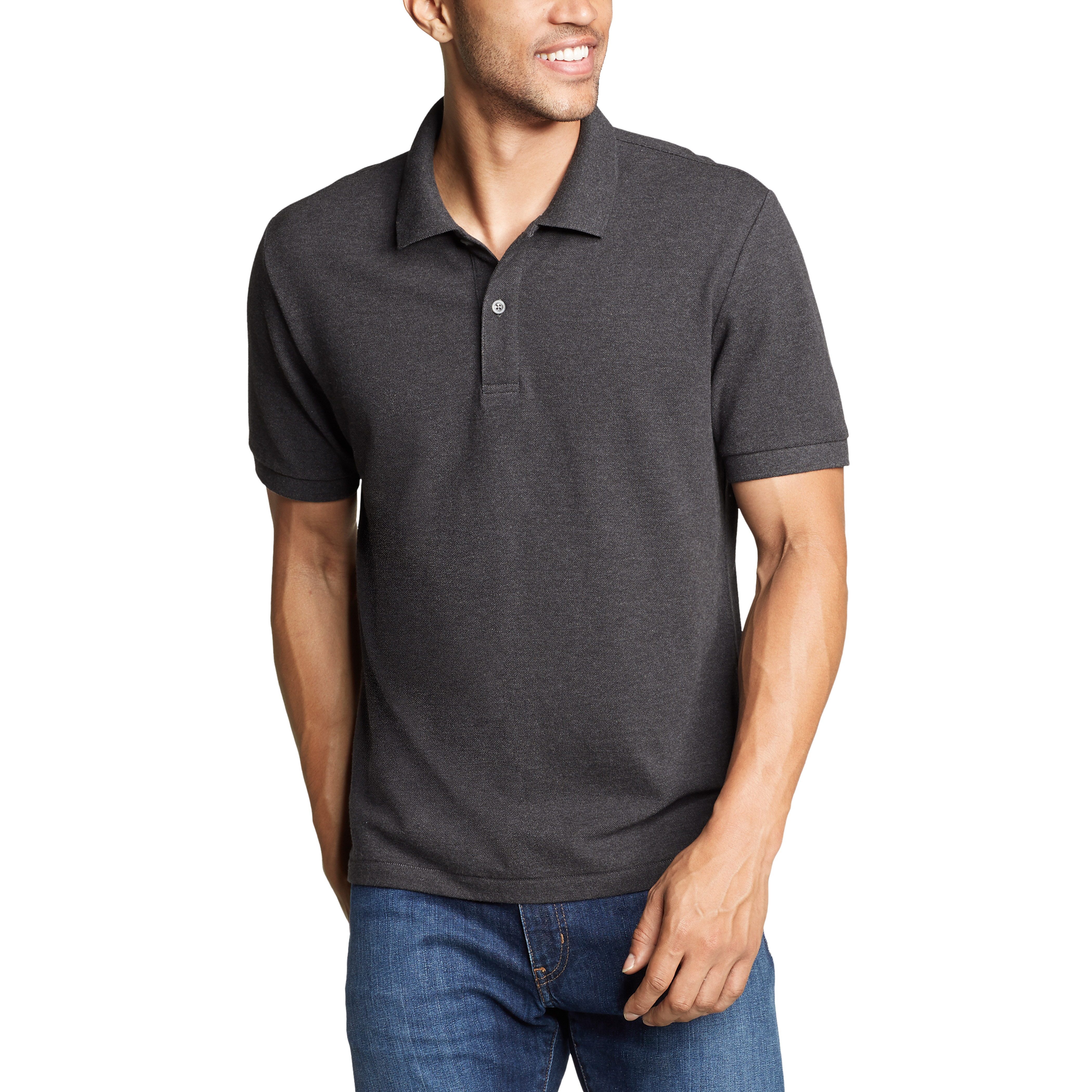 Imbracaminte Barbati Eddie Bauer Classic Field Pro Short Sleeve Polo Shirt - Tall Charcoal Heather
