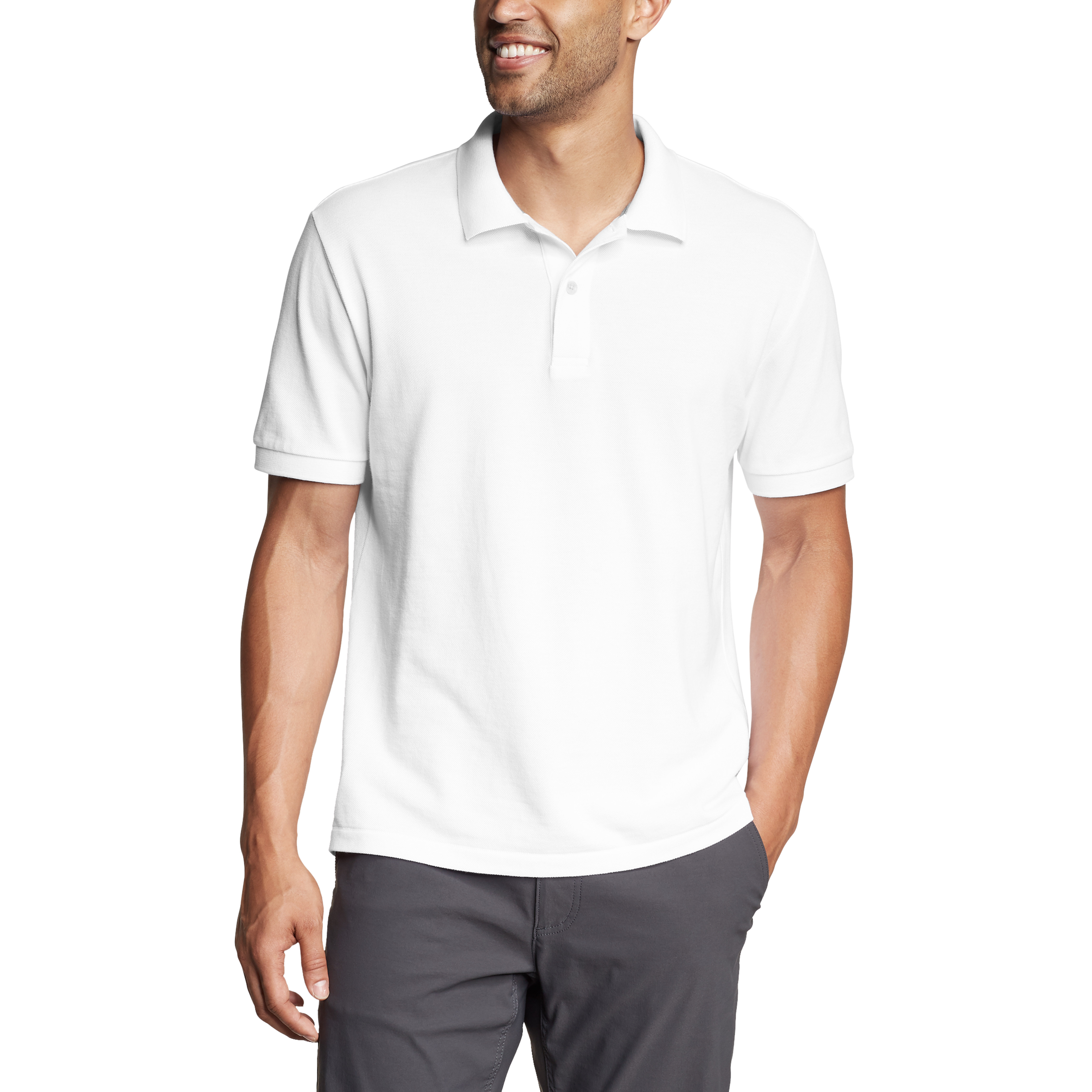Imbracaminte Barbati Eddie Bauer Classic Field Pro Short Sleeve Polo Shirt - Tall White