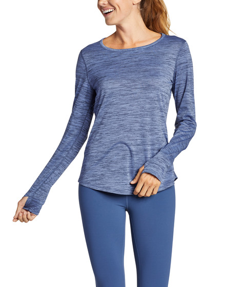 Imbracaminte Femei Eddie Bauer Resolution Long Sleeve Keyhole Back Crew Metal Blue