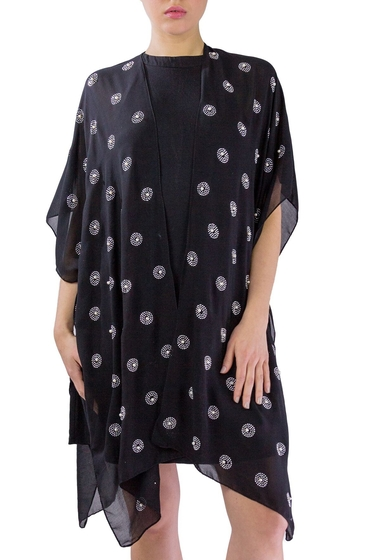 Imbracaminte Femei Just Jamie Chiffon Kimono with All Over Circles BLACK SILVER