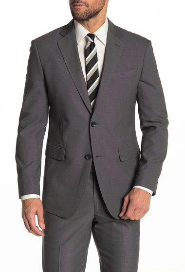 Imbracaminte Barbati Nordstrom Rack Front Button Pin Dot Trim Suit Separate Jacket GREY BLACK PIN DOT