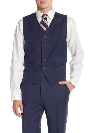 Imbracaminte Barbati Ben Sherman Blue Birdseye Six Button Suit Separate Vest BLUE