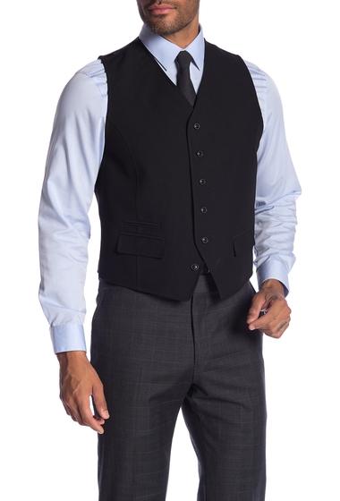 Imbracaminte Barbati Ben Sherman Solid Front Button Suit Separate Vest BLACK