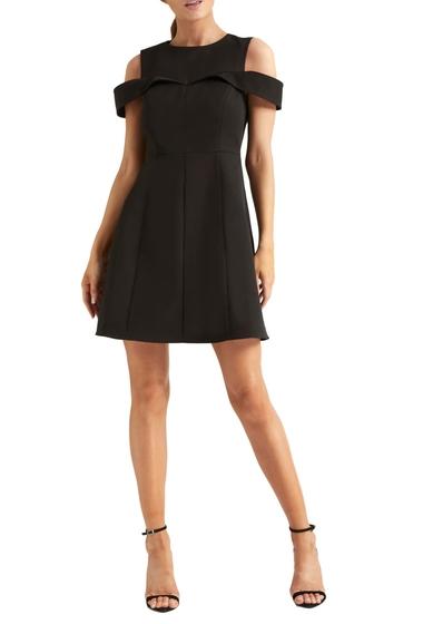 Imbracaminte Femei Halston Heritage Cold Shoulder Cocktail Dress BLACK