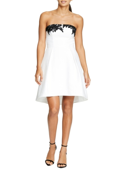Imbracaminte Femei Halston Heritage Strapless Fit Flare Cocktail Dress CHALKBLACK