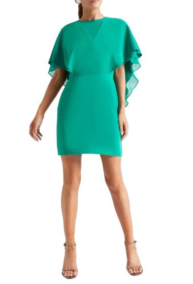 Imbracaminte Femei Halston Heritage Cape Sleeve Cocktail Dress EMERALD