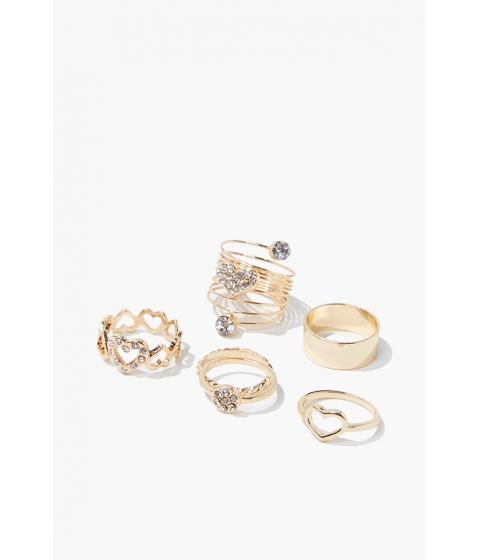 Bijuterii Femei Forever21 Rhinestone Ring Set GOLD