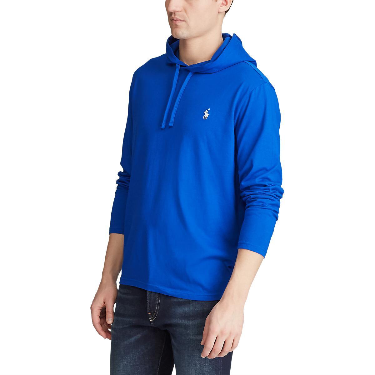 Imbracaminte Barbati Polo Ralph Lauren Big Tall Big amp Tall Cotton Jersey Hooded T-Shirt Pacific RoyalC1730