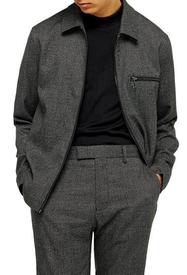Imbracaminte Barbati TOPMAN Classic Fit Zip Jacket BLACK